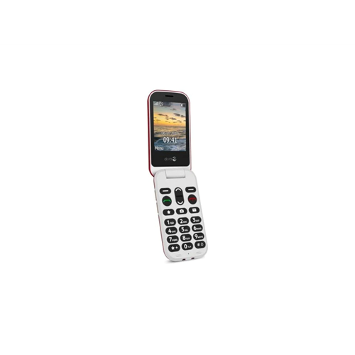 Doro 6060 Black/White easy to use clamshell phone
